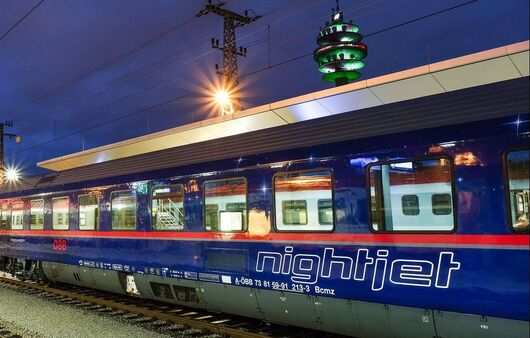 Nightjet Train at the Norway train station